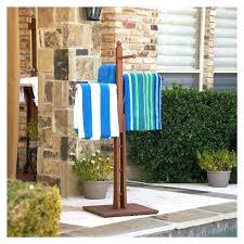 pool towel rack ing s ideas outdoor spa and bed bath beyond pool towel rack