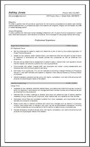 Nursing Resume Objective Registered Nurse Resume Jobsxs Com