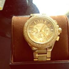 hustle s closet on poshmark paidgang michael kors other michael kors watch men s gold diamonds