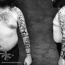 At Marinamandarintattoo полинезийская татуировка рукав леше из