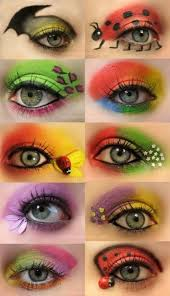 which look crazy colorful eye makeup luuux