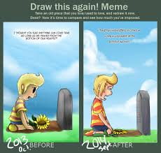 Redraw Meme - Hinawa's Grave by Angelstar7 on DeviantArt via Relatably.com