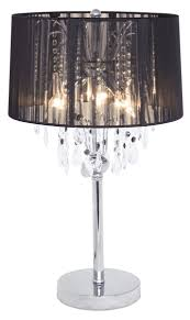 black chandelier table lamp photo 2