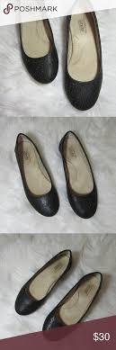 Designer Black Flats Croft Barrow Ortholite Womens Black Flats Size 6m Croft