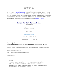 Bar Staff Cover Letter Sample Job And Resume Template