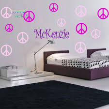 Peace Sign Bedroom Decor Black And Silver Bedroom