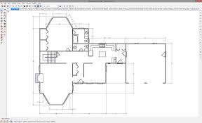 a 2d floor plan drawn in sketchup
