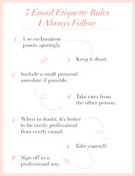 My 7 Rules Of Email Etiquette Cupcakes Cashmere
