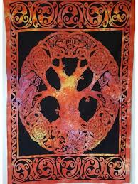 celtic tree of life tapestry wall