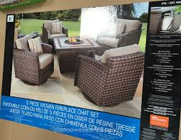 agio international patio furniture costco inspirational agio international 5 piece woven fireplace set