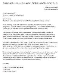 Academic Recommendation Letter Sample Just Letter Templates With ...