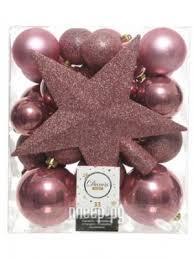 <b>Украшение Kaemingk Набор украшений</b> Новогодний Pink Velvet ...