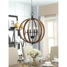 vineyard 6 light metal and wood chandelier wood