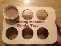 Wooden Vending Machine Extraordinary Wooden Cup Holder Vending Machine Drinks Tray Personalisation EBay