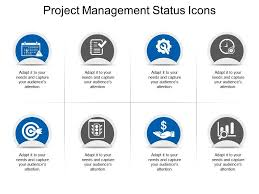 Project Powerpoint Project Management Status Icons Powerpoint Slide Clipart