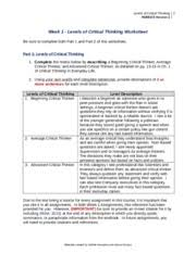week hum barrier barriers to critical thinking essay copy 2 pages week 1 hum 115 levels of critical thinking