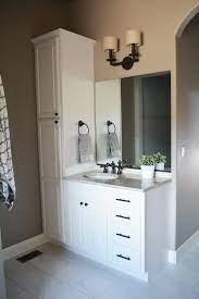 Bathroom Vanity With Attached Linen Cabinet Bathroom Vanity Designs Small Bathroom Vanities Small Bathroom Remodel