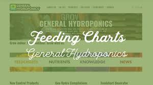 Feeding Charts Peterborough Hydroponic Centre
