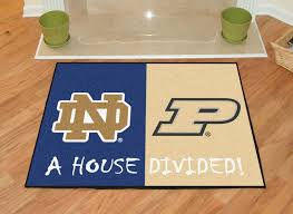 notre dame fighting irish purdue boilermakers house divided area mat rug x western rugs memory foam bath wildlife carved mission style lodge dining room art