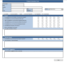 Evaluation Form Template Spreadsheetzone Free Excel Spread Sheets