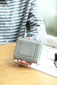 credit card slots clutch womens coin purse with id window estalon rfid leather checkbook wallets for women women