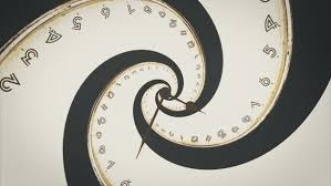 Rotating Numbers Rotating Spiral Of Clock From Numbers Abstract Seamless Animation
