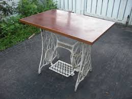 antique singer sewing machine table desk