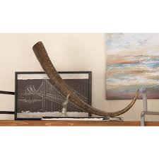 Horn Decorative Accessories 100 in x 100 in Decorative Horn Sculpture in Distressed Aluminium 84