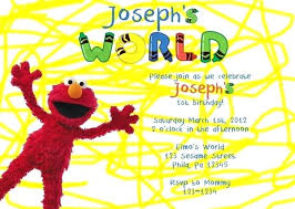 How To Create A Party Invitation Wonderful Elmo Birthday Party Invitations How To Create Birthday