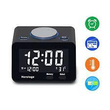 sharp digital alarm clock with usb charge port. usb alarm clock digital radio with charging port fm thermometer sharp usb charge