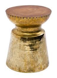 brass and metal furniture. Taj Stool (Brass) Brass And Metal Furniture