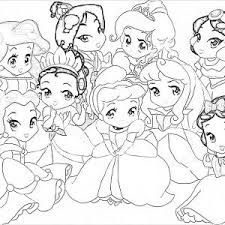 Small Picture Disney Princess Color Pages Printable Kids Colouring Coloring For