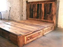 twin platform bed frame. Pine Platform Bed Reclaimed Rustic With King Size Frame Unfinished Twin