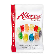 albanese gummi bears 12 flavor 7 5 oz bag per pkg