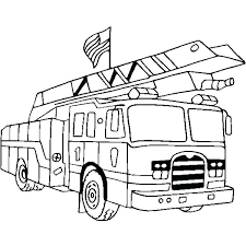 Coloring Pages Trucks Free Fire Trucks Coloring Pages Firetruck