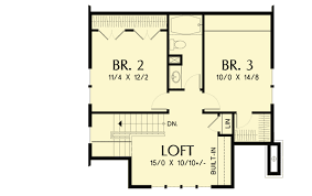 house plans with loft. Bungalow With Open Floor Plan \u0026 Loft - 69541AM 2nd House Plans H