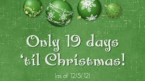 Christmas Countdown With Background Of ...