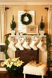Amazing christmas fireplace mantel decoration ideas Stockings Joyful And Bright Christmas Living Room Fireplace Mantel Decoration In Natural Green And Cream Color Theme Welcome Santa Lovely Christmas Decorating Ideas Myhousemyhome Furniture And Accessories Joyful And Bright Christmas Living Room