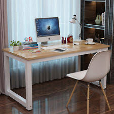 wooden office desks. computer desk study writing table home office workstation wooden \u0026 metal leg desks
