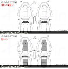 2003 2006 chevrolet ssr custom leather upholstery 2003 2006 chevrolet ssr leather interior design