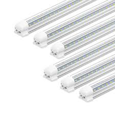 Pack Of 12 6ft Led Tube Light T8 Integrated Single Fixture For Utility Shop 56w 6000k Daylight White 5600lm High Output Linkable Led Ceiling