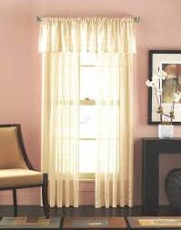 cream sheer curtain with cool painted design also neutral color scheme and and match pink wall colored also patchwork rug also picture wall frame and dark