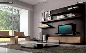 Wall Tv Decoration Living Room Remarkable Simple Living Room Design With Teak Wood