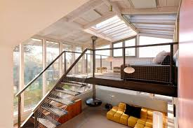 dream holiday home design a loft with glass ceiling