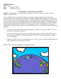 the odyssey essay topics odyssey of life essay honors