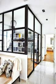 wall glass interiors minimalist visori open space decor for home partition cost glass wall home