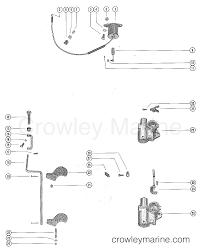 Carburetor linkage and choke solenoid serial range mercury