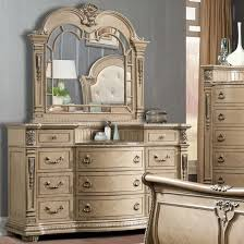 Mirrored Bedroom Dresser Davis Direct Monaco Traditional Elegantly Carved Dresser And