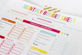 Budget Sheet Free Printable Budget Sheet Track Monthly Finances Using Free Printables