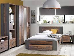 Jugendzimmer Cedric 66 Vintage Braun 4 Teilig Schlafzimmer Bett Nako